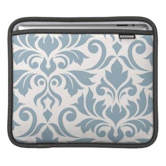 Housse iPad Bleu de l'art I de damassé de Flourish sur la