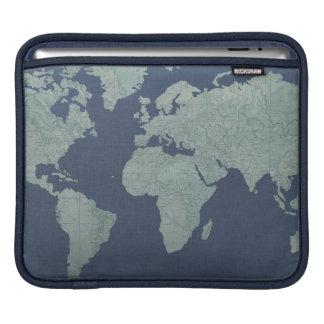 Housse iPad Carte de toile bleue du monde