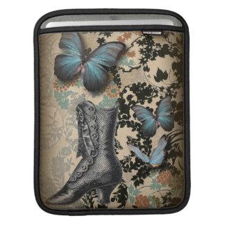 Housse iPad chaussure victorienne vintage de papillon