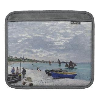 Housse iPad Claude Monet | la plage chez Sainte-Adresse