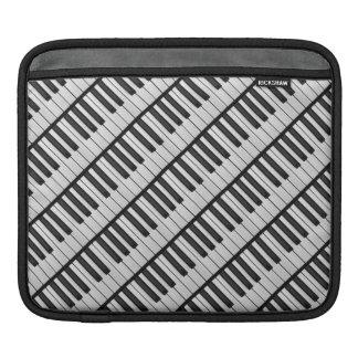 Housse iPad Clés noires et blanches de piano