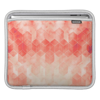 Housse iPad Conception graphique de cube géométrique rouge