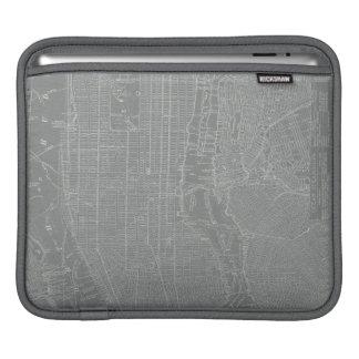 Housse iPad Croquis de carte de New York City