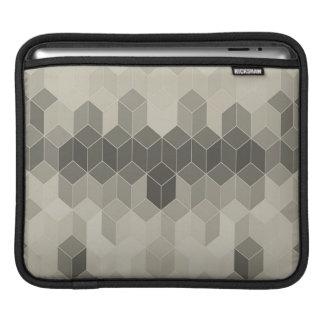 Housse iPad Dessin géométrique de cube en gamme de gris
