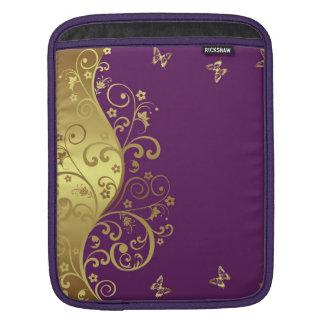Housse iPad douille d'iPad--Remous rouges de violette et d'or