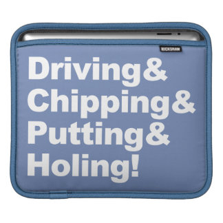 Housse iPad Driving&Chipping&Putting&Holing (blanc)