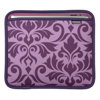 Housse iPad Épanouissez-vous le rose et la prune de l'art I de