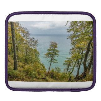 Housse iPad Forêt côtière sur la côte de mer baltique