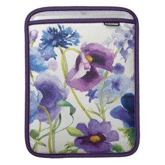 Housse iPad Jardin mélangé bleu et pourpre