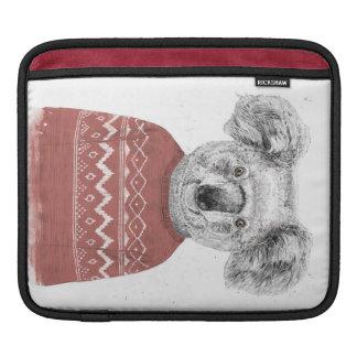 Housse iPad Koala d'hiver (rouge)