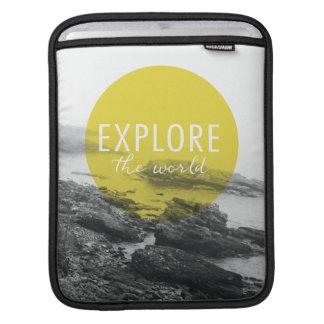 Housse iPad L'océan   explorent la citation du monde