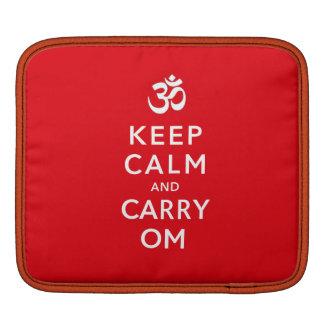 Housse iPad Maintenez calme et portez l'iPad de l'OM ou la