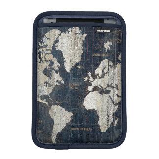 Housse iPad Mini Bleu de carte de Vieux Monde
