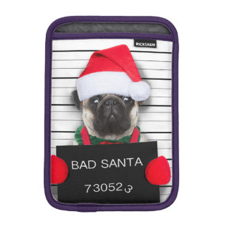 Housse iPad Mini Carlin de Noël - chien de photo - carlin de père