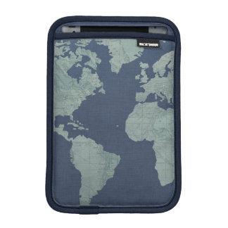 Housse iPad Mini Carte de toile bleue du monde