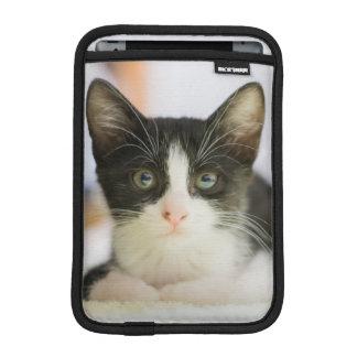 Housse iPad Mini Chaton blanc et noir doux