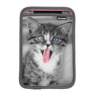 Housse iPad Mini Chaton drôle avec la langue traînant