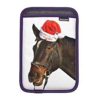 Housse iPad Mini Cheval père Noël - cheval de Noël - Joyeux Noël