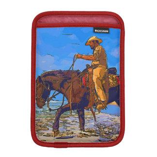 Housse iPad Mini Cowboy monté