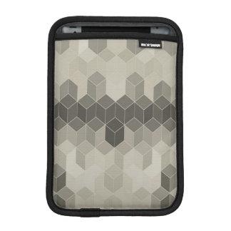 Housse iPad Mini Dessin géométrique de cube en gamme de gris
