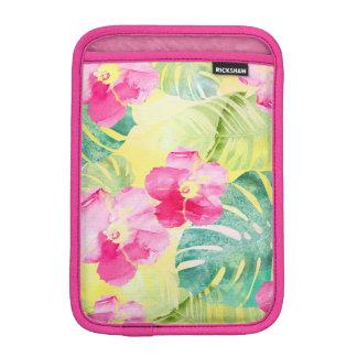 Housse iPad Mini Fleurs tropicales de ketmie de feuille d'été