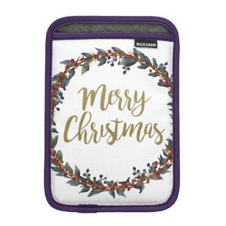 Housse iPad Mini Guirlande d'aquarelle - Joyeux Noël - branches