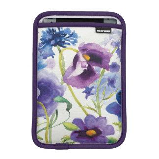 Housse iPad Mini Jardin mélangé bleu et pourpre