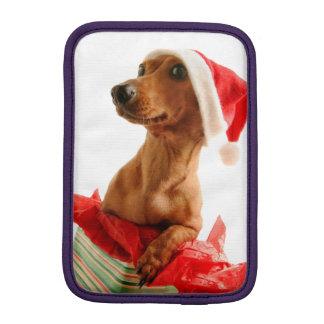 Housse iPad Mini Le teckel père Noël - le chien de père Noël -