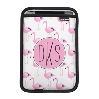 Housse iPad Mini Monogramme rose des flamants |