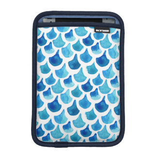Housse iPad Mini Motif bleu d'échelle d'aquarelle