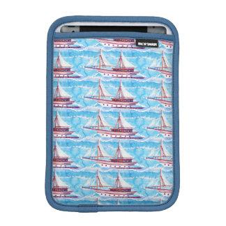 Housse iPad Mini Motif de bateaux de navigation d'aquarelle