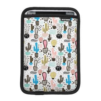 Housse iPad Mini Motif géométrique de cactus moderne