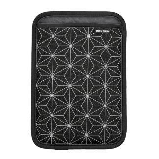 Housse iPad Mini Motif géométrique élégant - argent et Noir