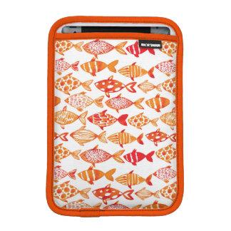 Housse iPad Mini Motif orange lumineux de poissons d'aquarelle