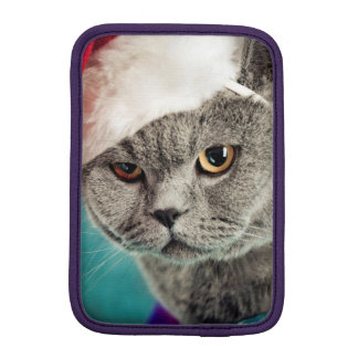 Housse iPad Mini Noël gris de chat - chat de Noël - chat de chaton
