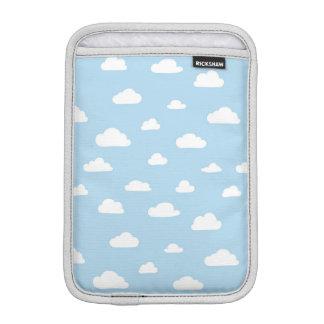 Housse iPad Mini Nuages blancs de bande dessinée sur le motif bleu