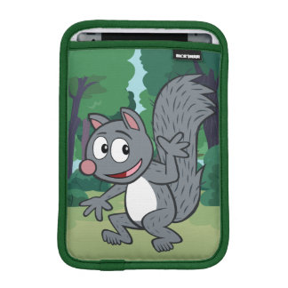Housse iPad Mini Ondulation grise d'écureuil de Rick | de garde