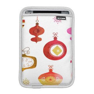 Housse iPad Mini Ornements rouges audacieux de Waterclor