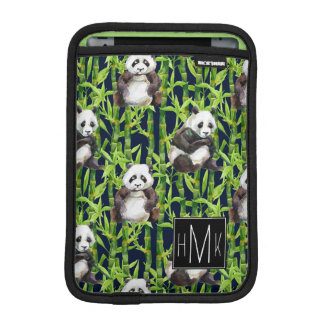 Housse iPad Mini Panda avec le monogramme en bambou du motif  