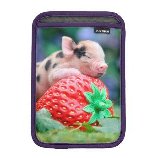Housse iPad Mini porc de fraise