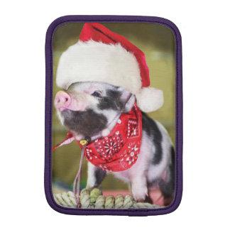 Housse iPad Mini Porc le père noël - porc de Noël - porcelet