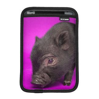 Housse iPad Mini Porc noir de bébé