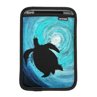 Housse iPad Mini Silhouette de tortue de mer
