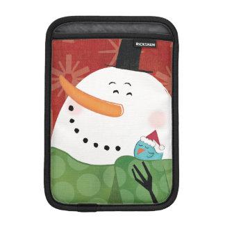 Housse iPad Mini Tasse bleue de Noël avec du cacao foncé