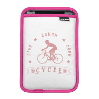 Housse iPad Mini Texte de Live Laugh Love Cycle de Madame (rose)