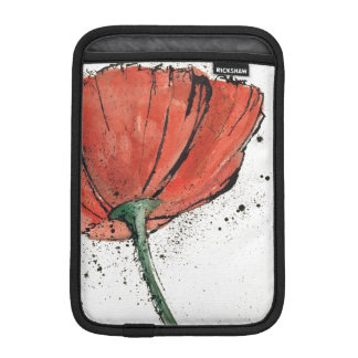 Housse iPad Mini Une fleur fermée sur un arrière - plan blanc