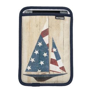 Housse iPad Mini Voilier avec le drapeau américain