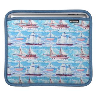 Housse iPad Motif de bateaux de navigation d'aquarelle