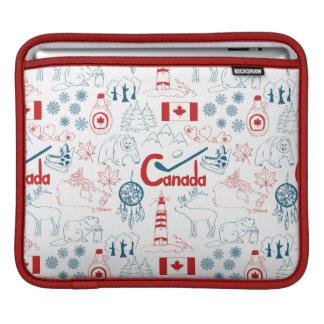 Housse iPad Motif de symboles du Canada |