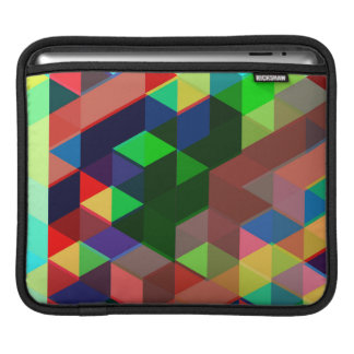 Housse iPad Motif géométrique audacieux de cube